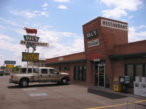 Del's diner on Route 66