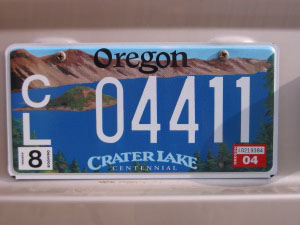 new Oregon plates